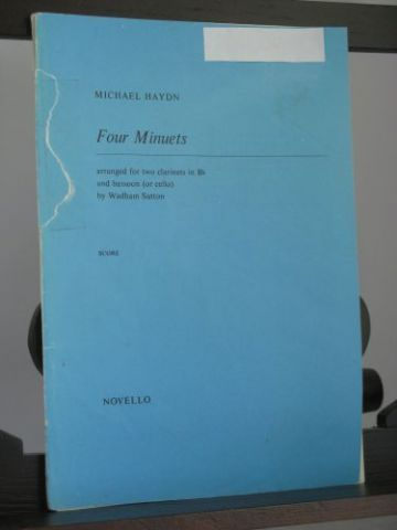 Haydn M - Four Minuets for 2 Clarinets & Bassoon arr Sutton W